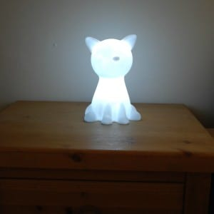 pk green cat night light just white light
