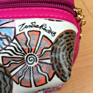 Zandra Rhodes make up bag close up