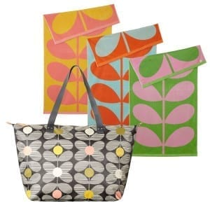 orla kiely stem bag and beach towel