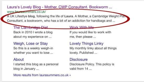 search homepage meta description
