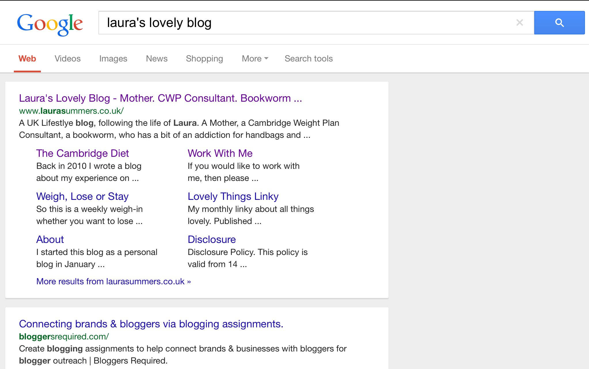 how to get my blog on google search