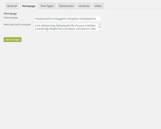 Yoast homepage information