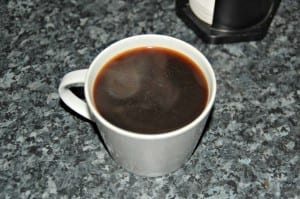 Cup of Aeropress coffee