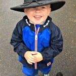 Logan in his Grandpa's Hat