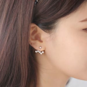 two way star earrings