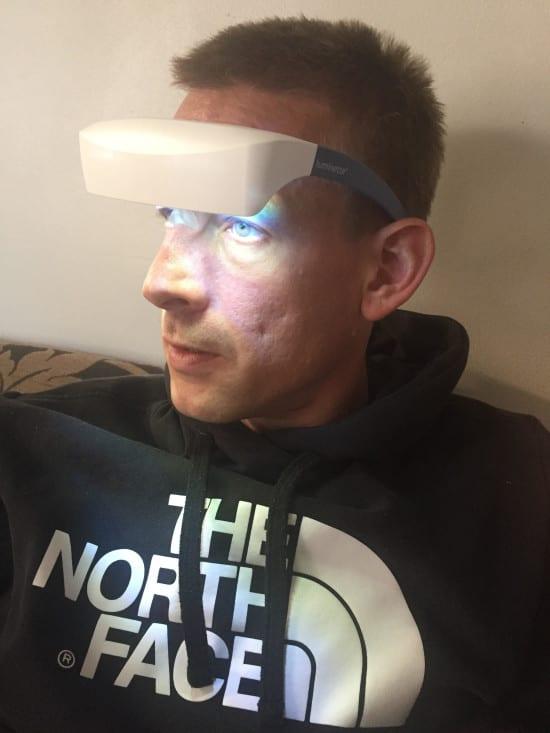 ben wearing luminette glasses