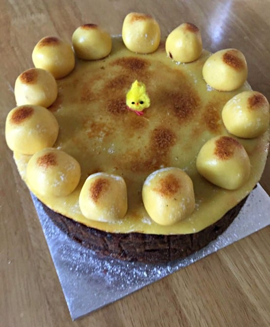 dairy free easter simnel cake