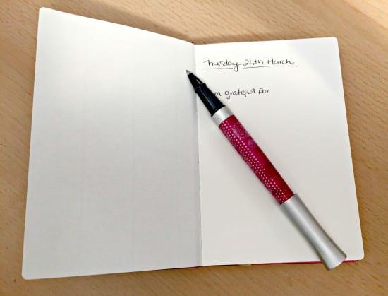 starting a gratitude diary
