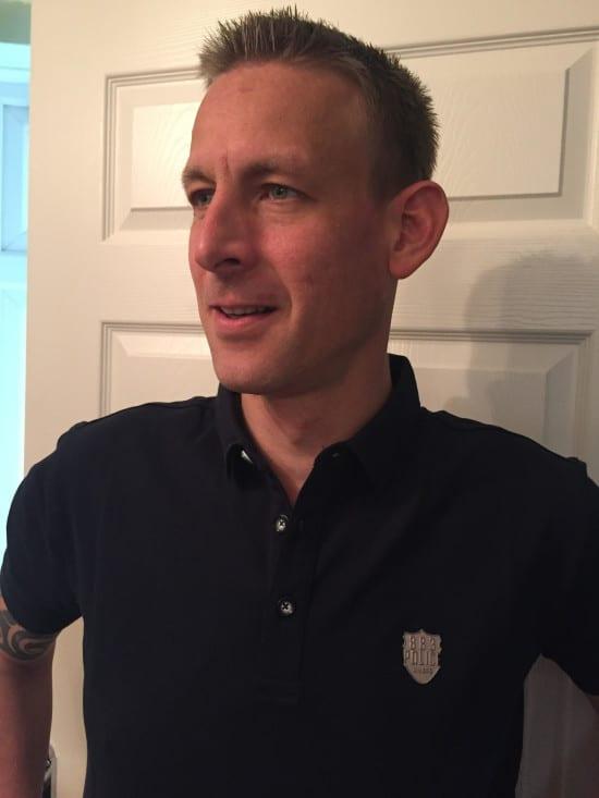 police polo shirt navy