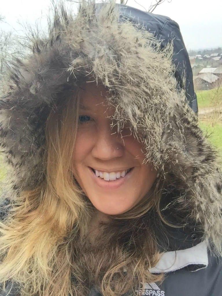 trespass snowy down jacket with hood