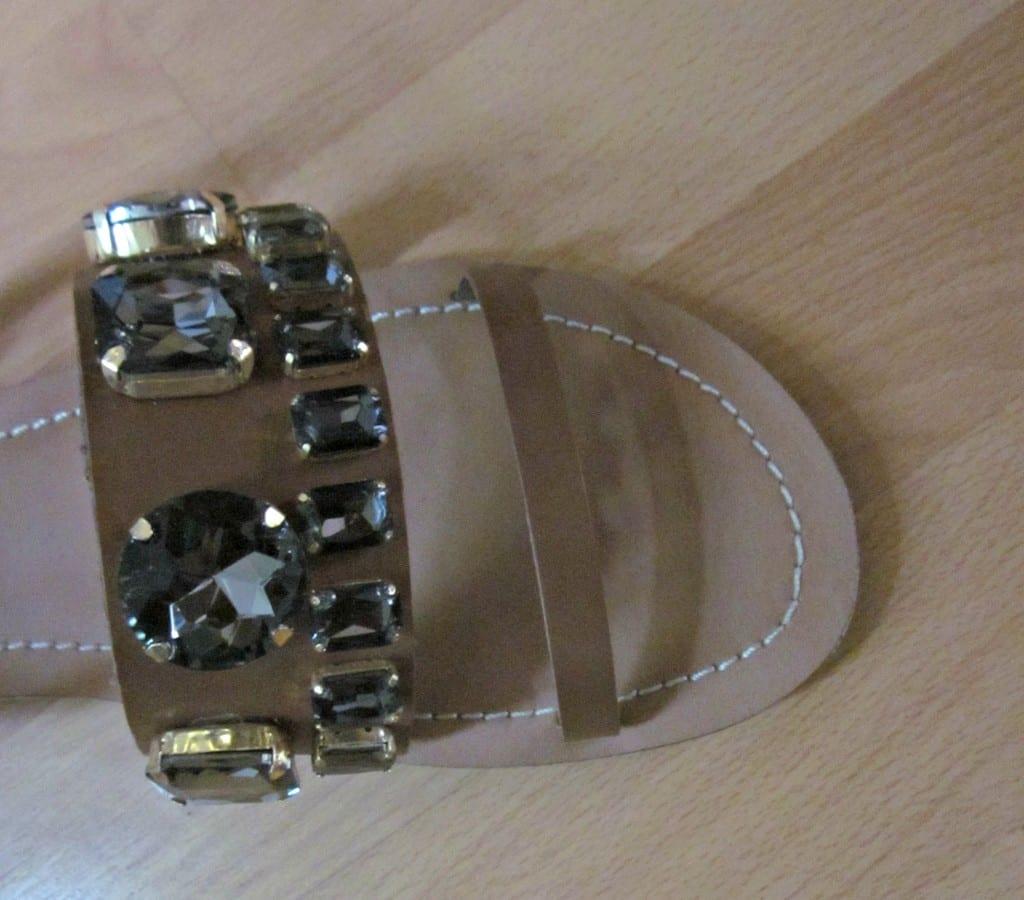JD Williams Sole Diva sandals close up