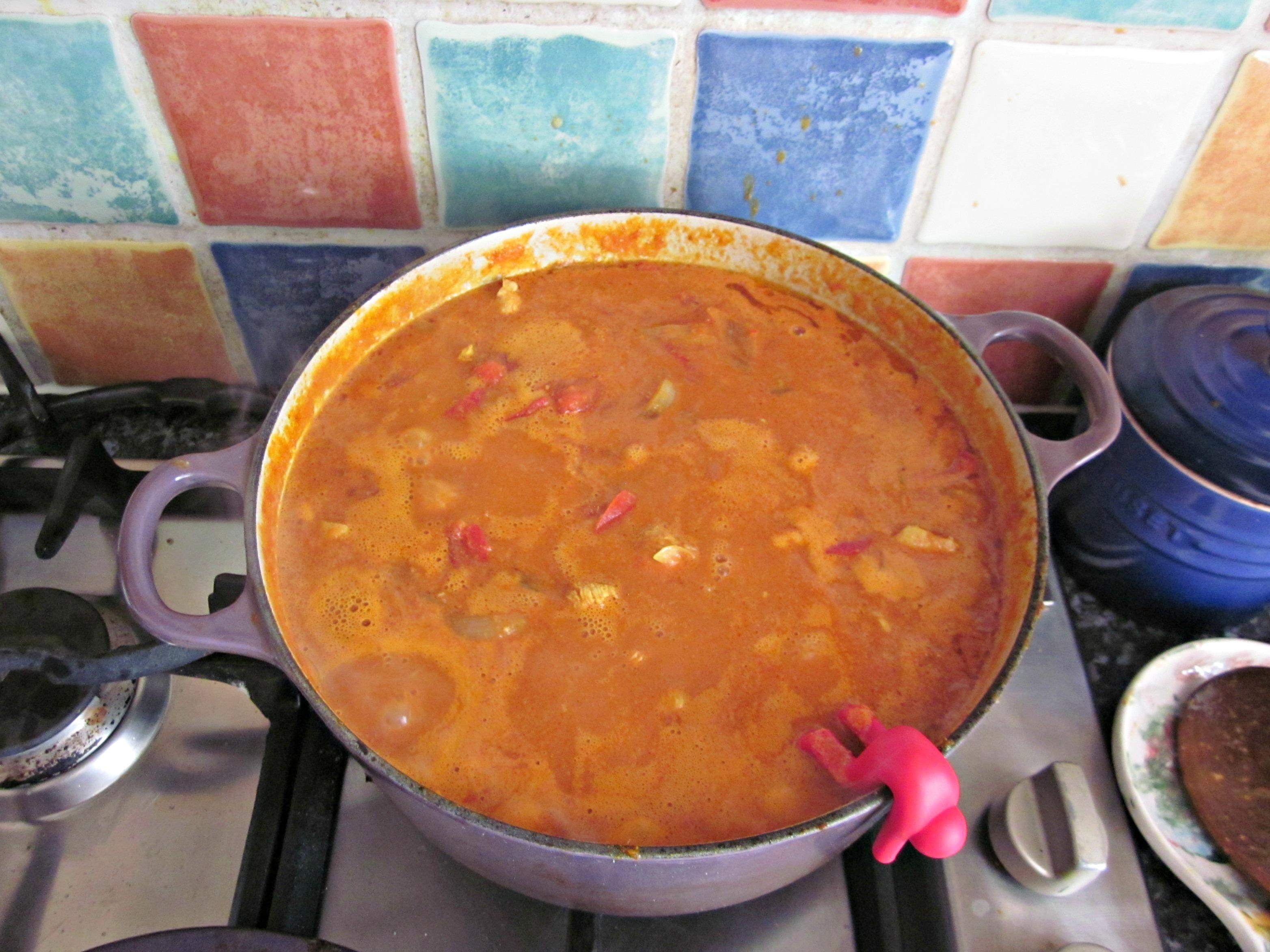 easy chicken tikka recipe - leave to simmer