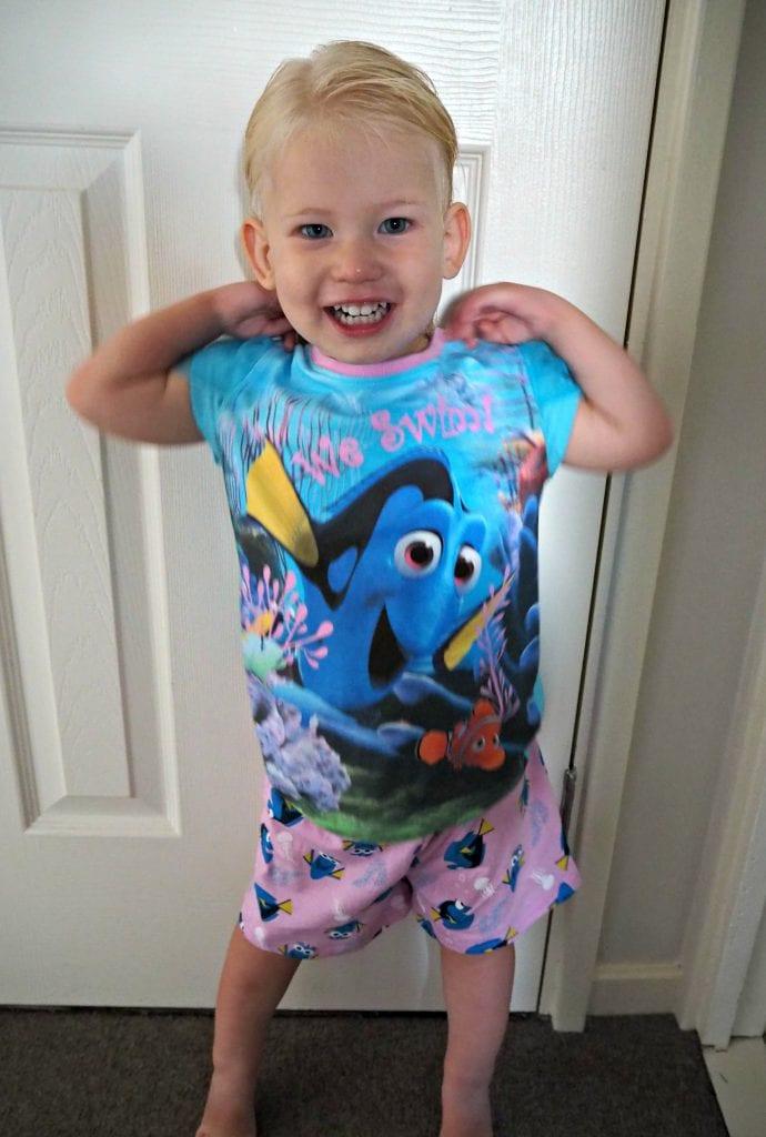 Aria-George-Asda-Nemo-pajamas