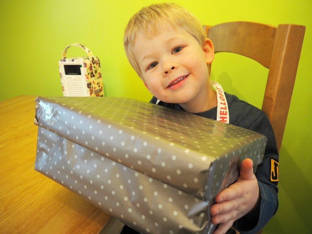 Christmas-box-Logan-with-the-wrapped-box