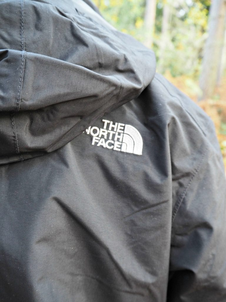 North-Face-Evolution-II-Triclimate-3-in-1-review-back-logo-close-up
