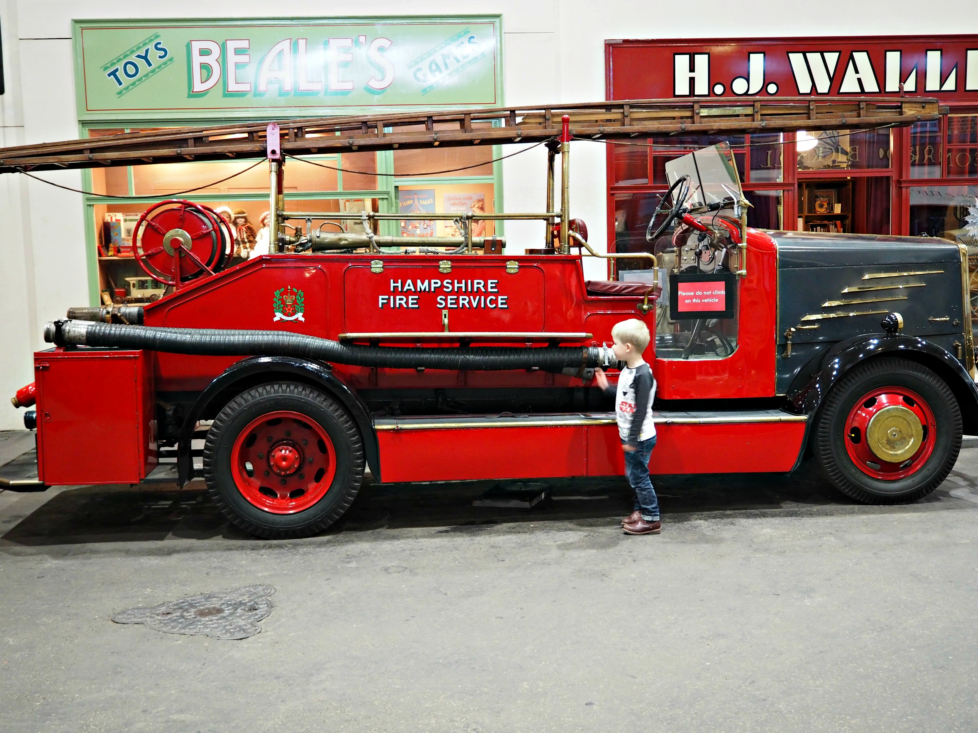 Milestones Museum fire engine