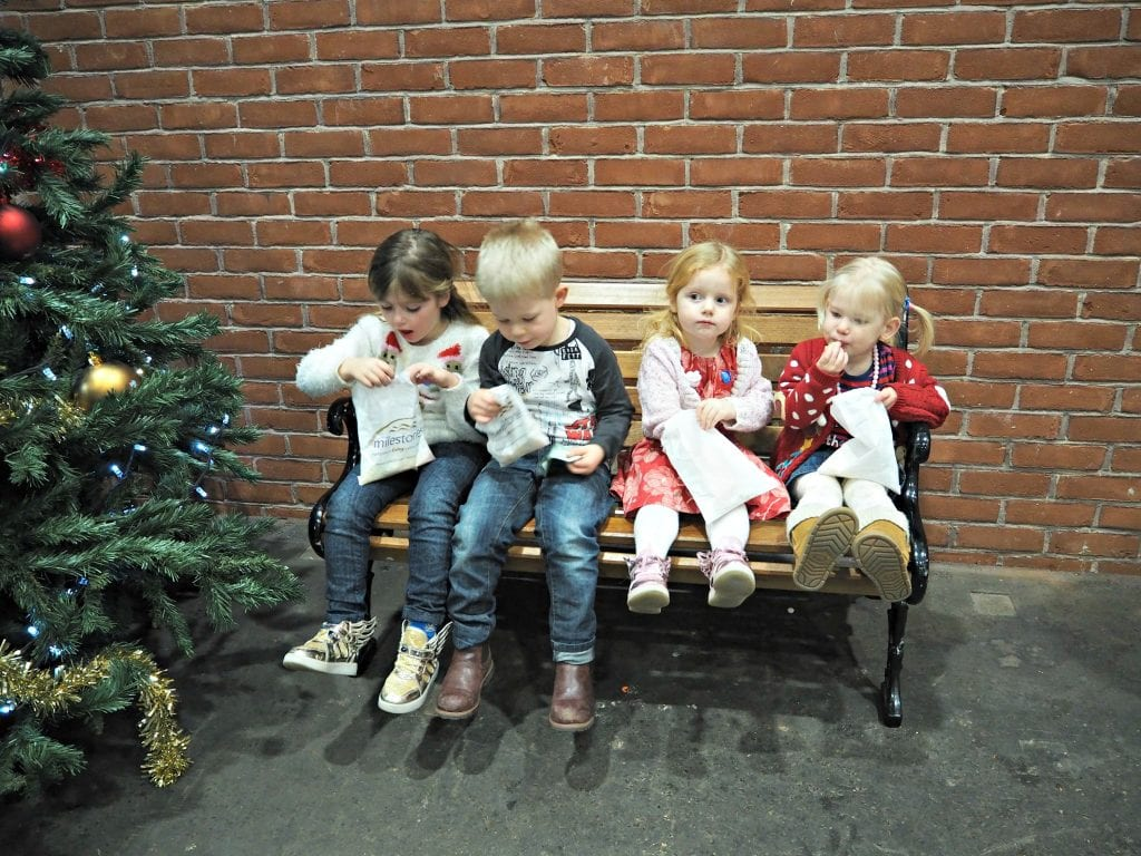 Milestones Museum Review - children eating a ration of sweets