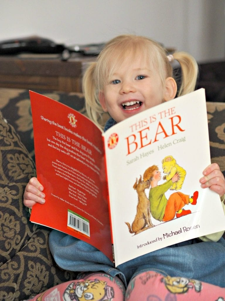 Aria reading This is the Bear