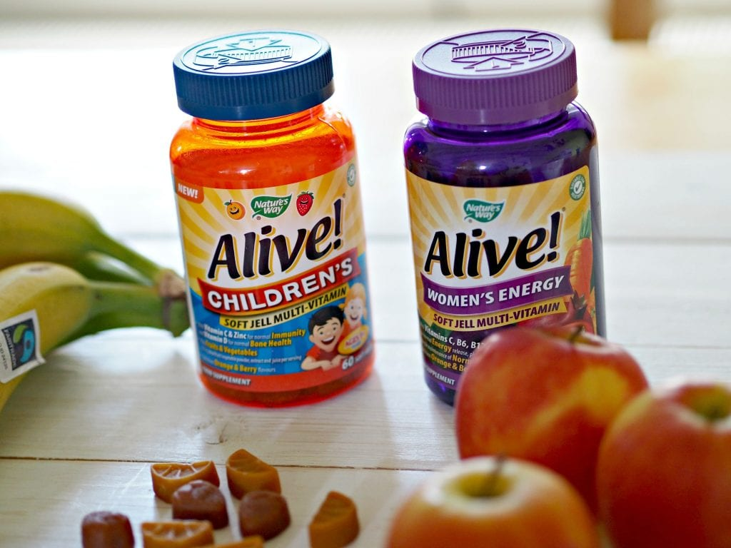 Alive! Children's Multi-vitamins and women's energy