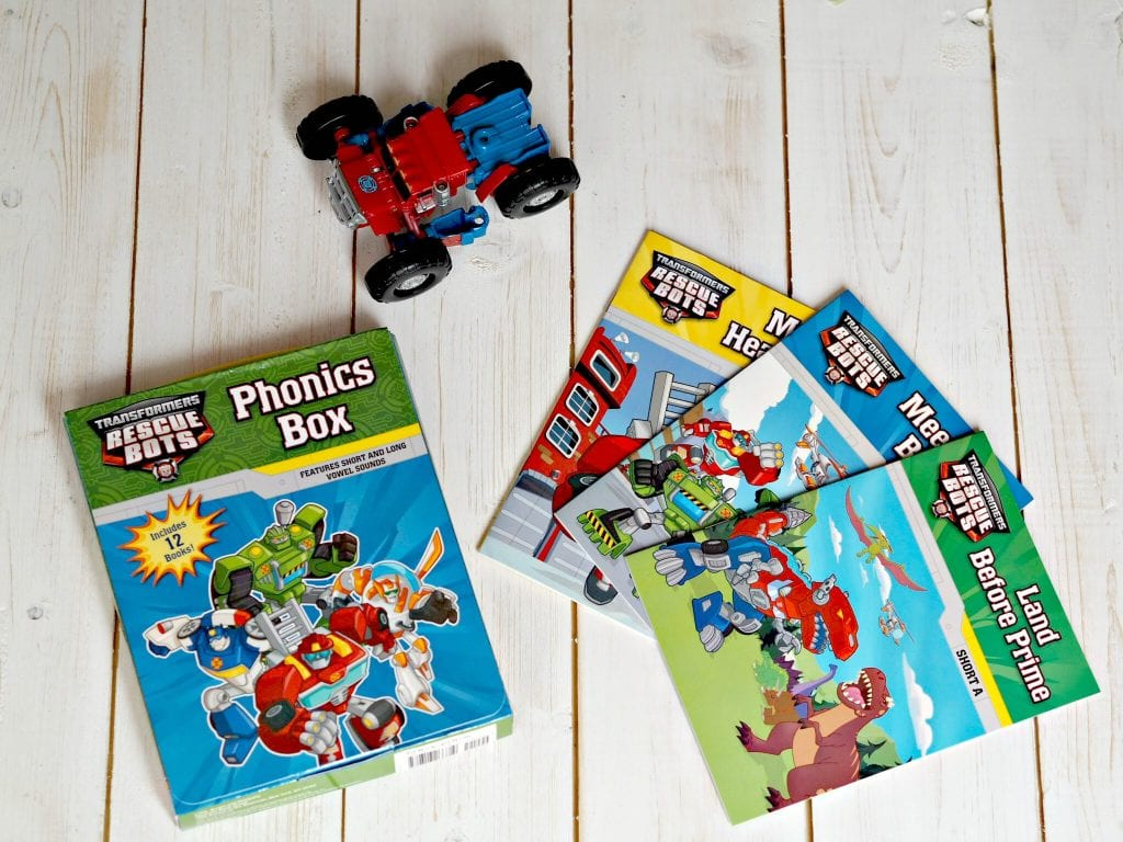 Encouraging My Son to Read with Transformers Phonics Books