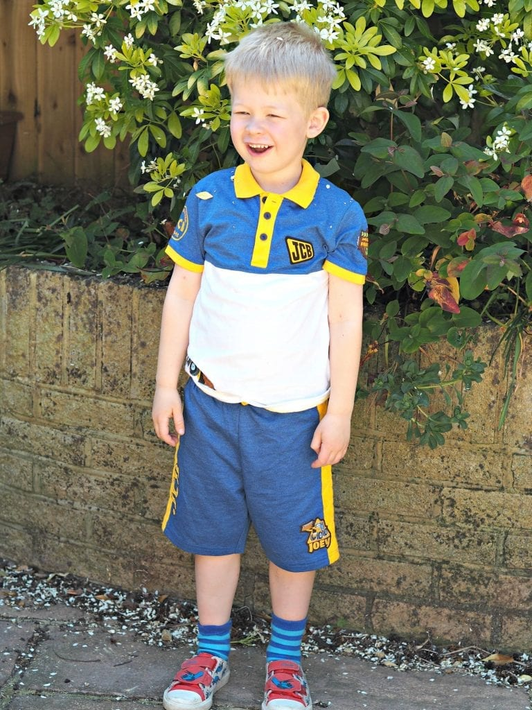 JCB Kids M&Co Shorts and Polo Shirt