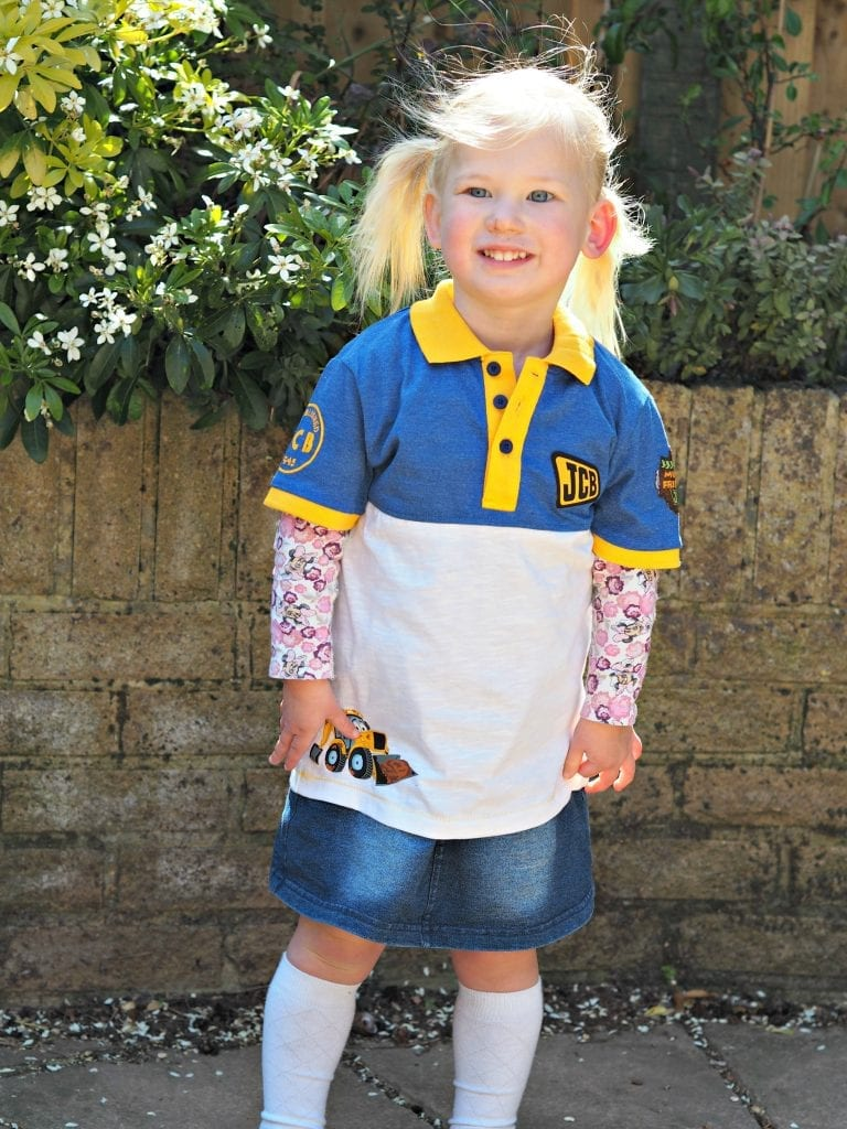 JCB Kids M&Co Shorts and Polo Shirt - Aria in tshirt