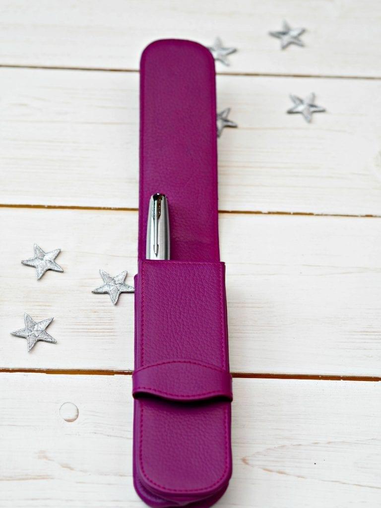 Purple Leather 2 pen case from Pen Heaven