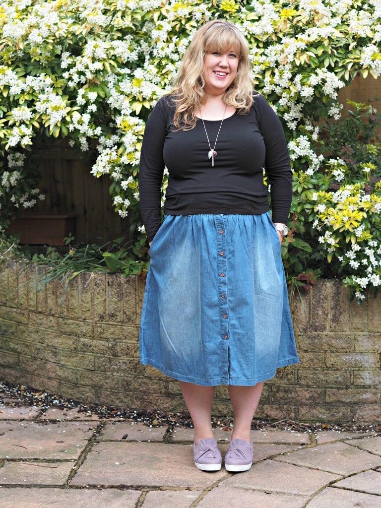 Simply Be Vintage Denim Midi Skirt