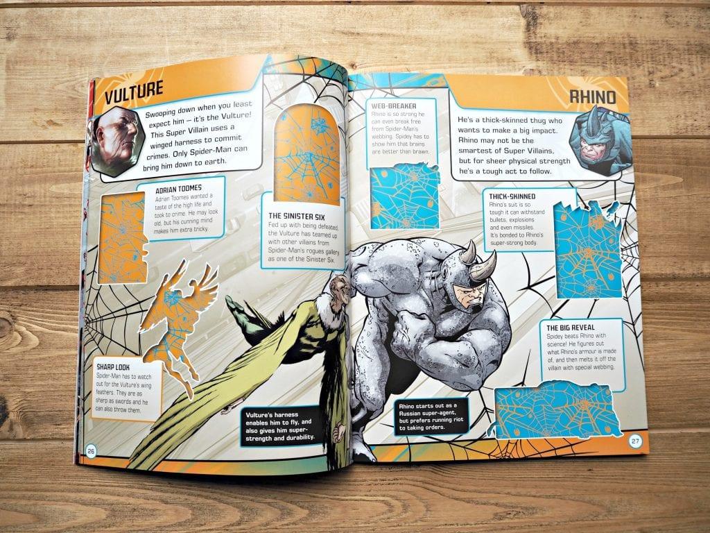DK Spiderman Books - inside books 1