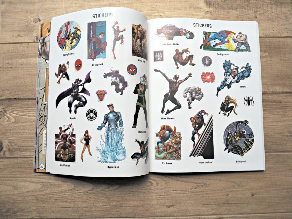DK Spiderman Books - inside sticker book