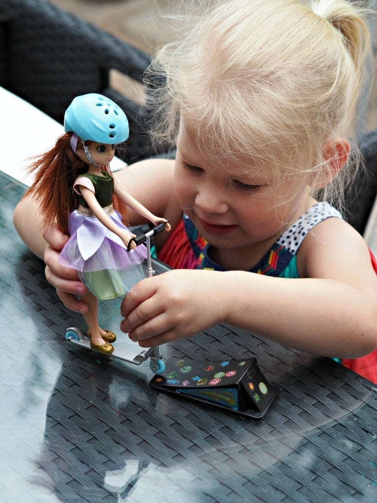 Forest Friend Lottie Doll & Scooter Set Review - Aria playing