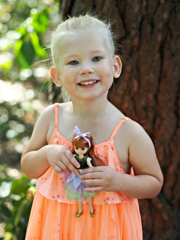 Forest Friend Lottie Doll & Scooter Set Review - Aria with Lottie doll.