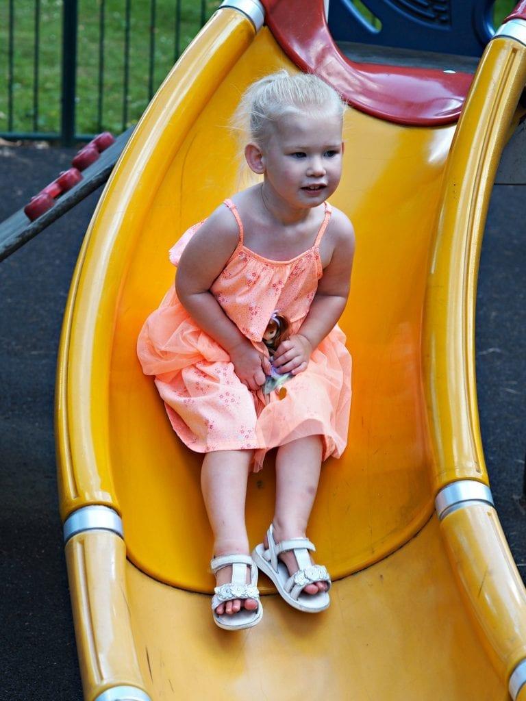 Lottie Doll on the slide