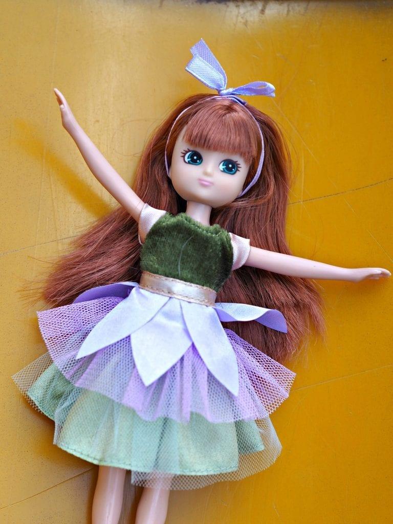 Lottie Doll sliding down