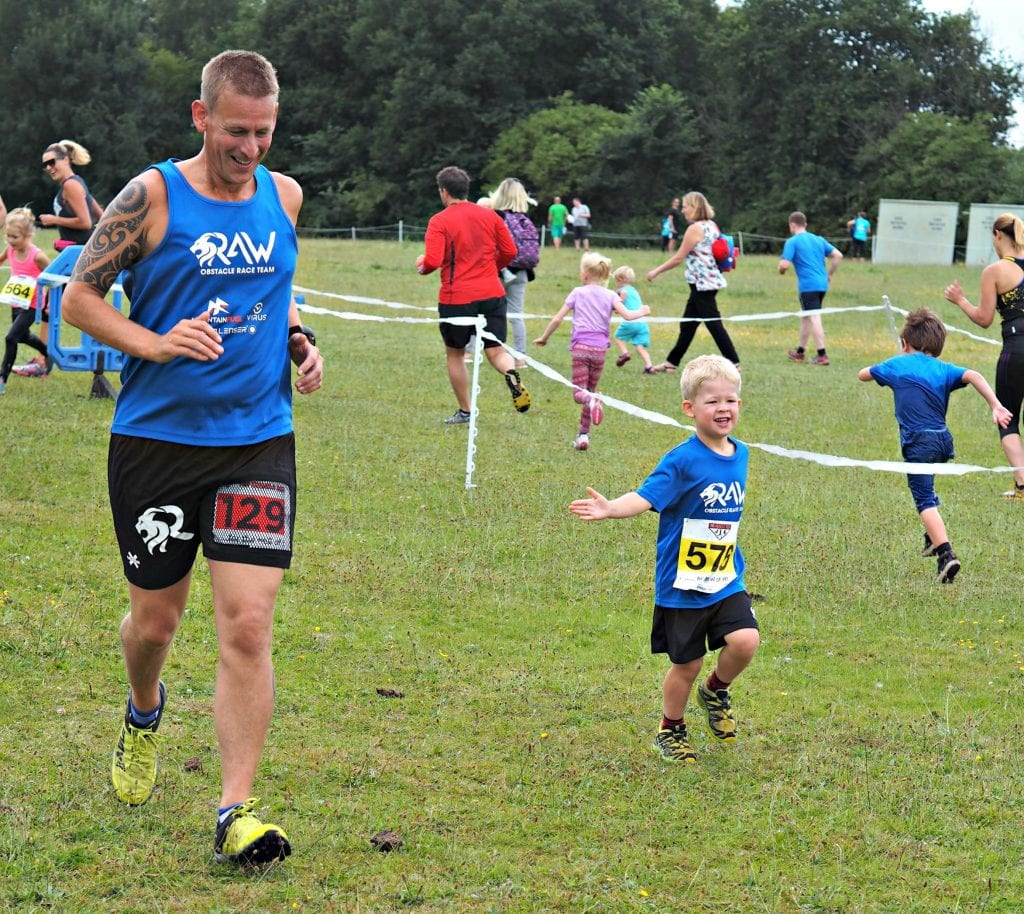 Muscle Acre July 2017 - Ben and Logan running together