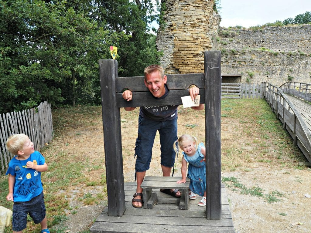 Our French Holiday Highlights - June 2017 - Daddy in the stocks