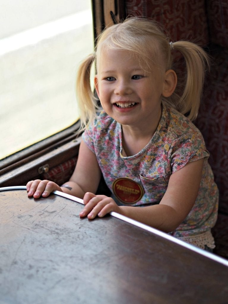 Day out with Thomas at the Watercress Line - Aria on the train