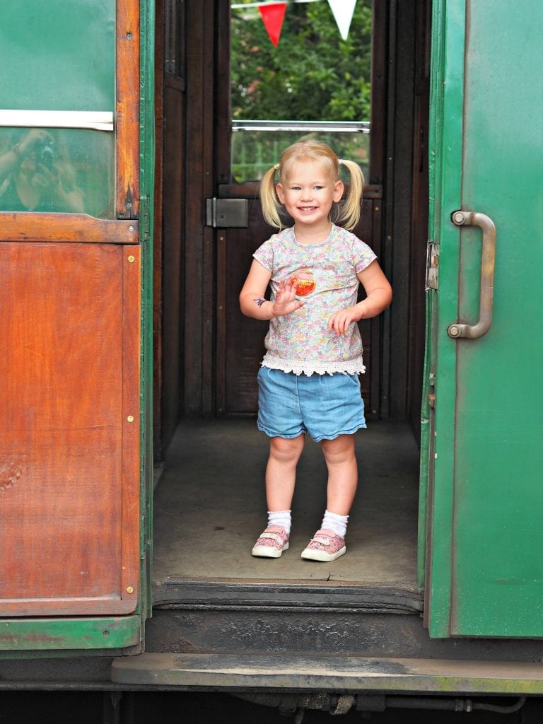 Day out with Thomas at the Watercress Line - Aria train door