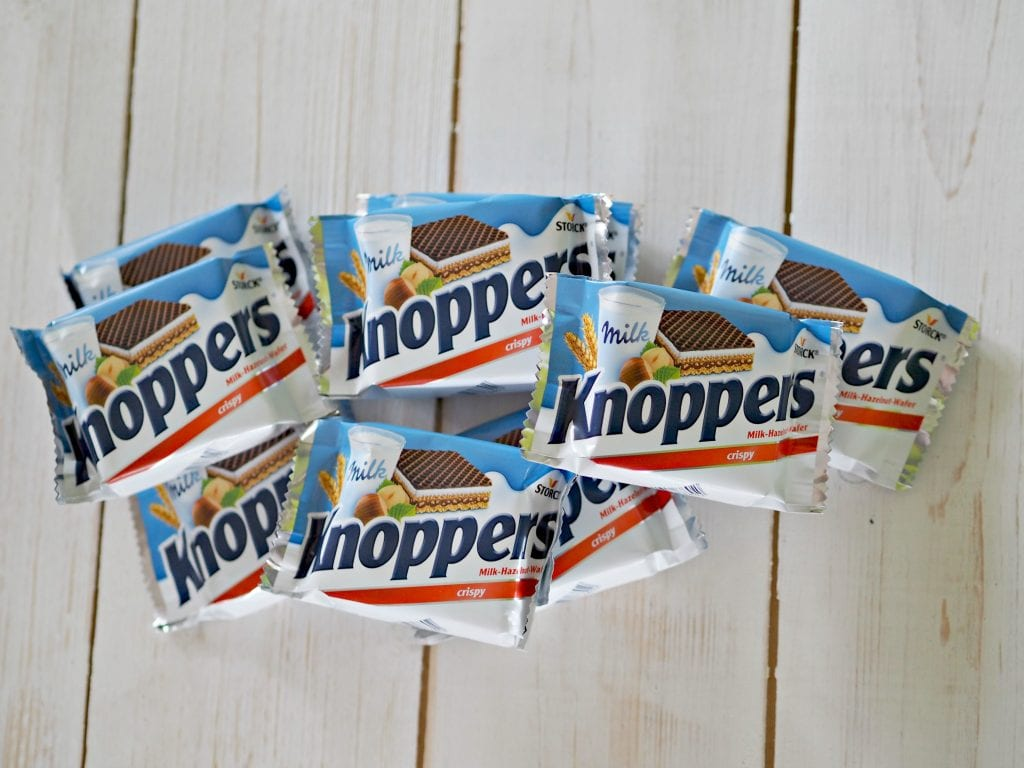 Knoppers Snack Bars Review - pile of Knoppers