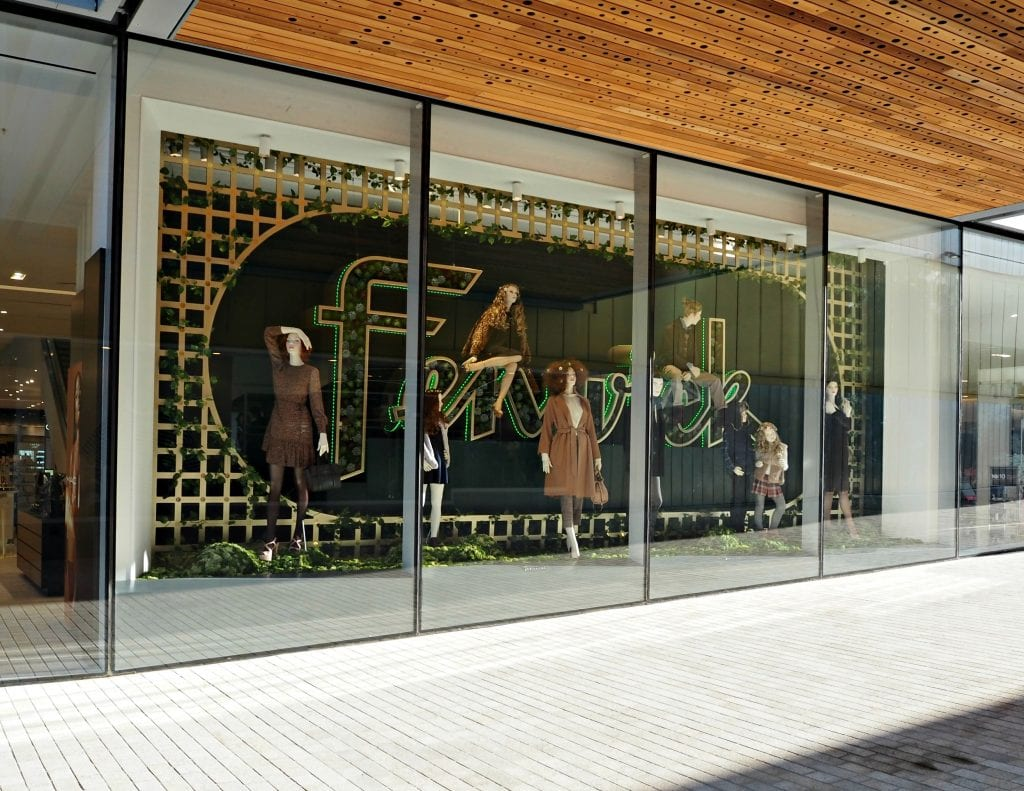The Opening of the Lexicon in Bracknell - Fenwick window