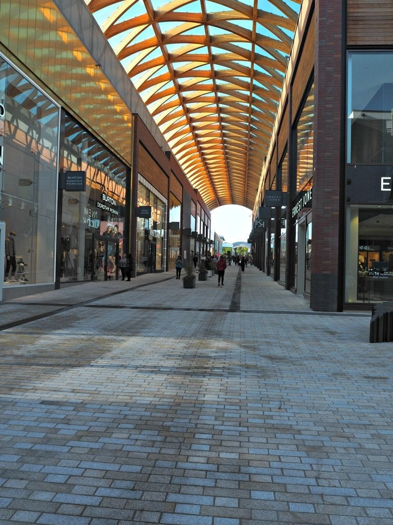 The Opening of the Lexicon in Bracknell - covered walkway