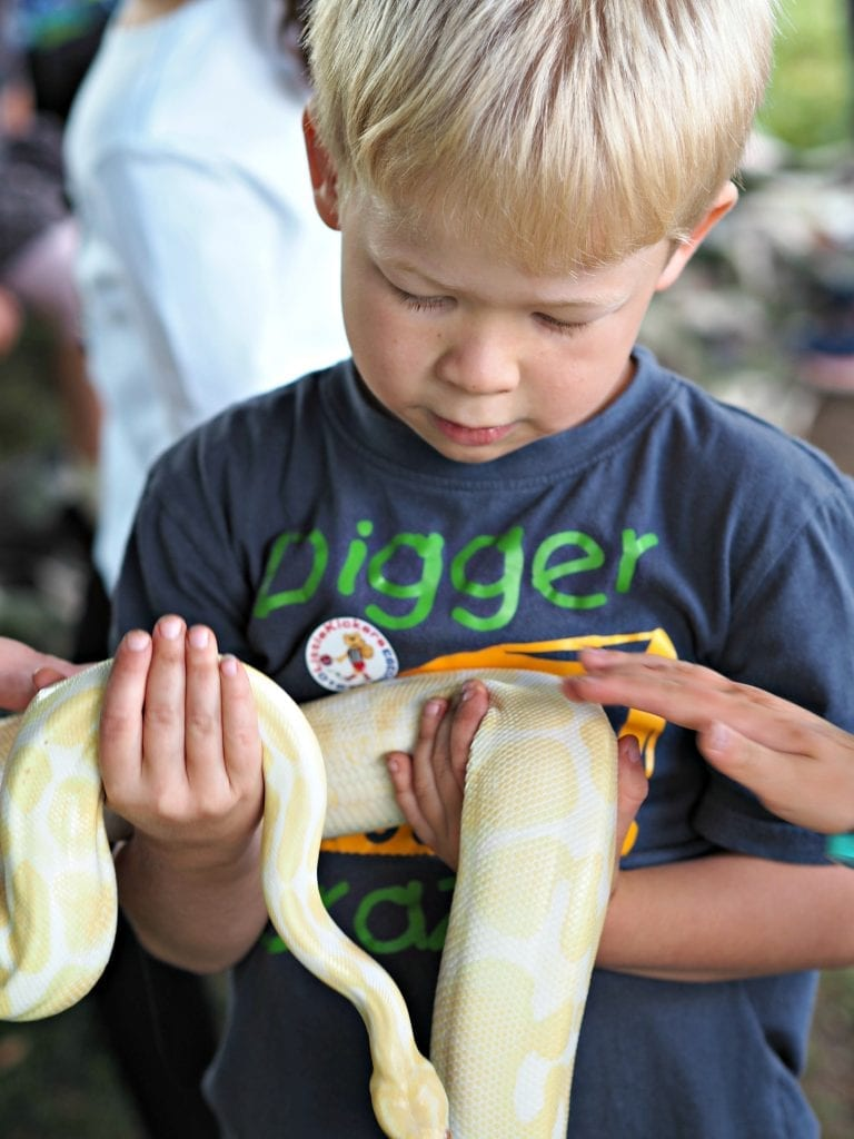 Things We Did This Summer Holidays - 2017 - Logan holding python