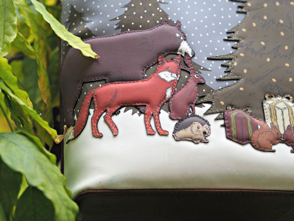 Yoshi Winter Wonderland Handbag - applique animals