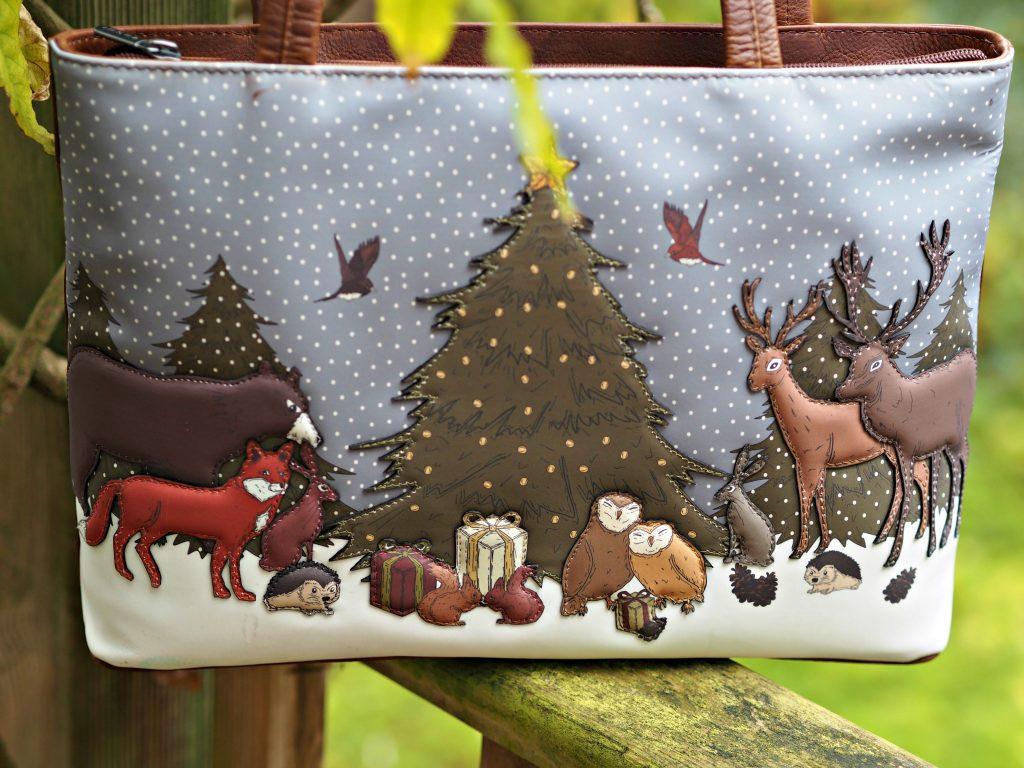 Yoshi Winter Wonderland Handbag - close up