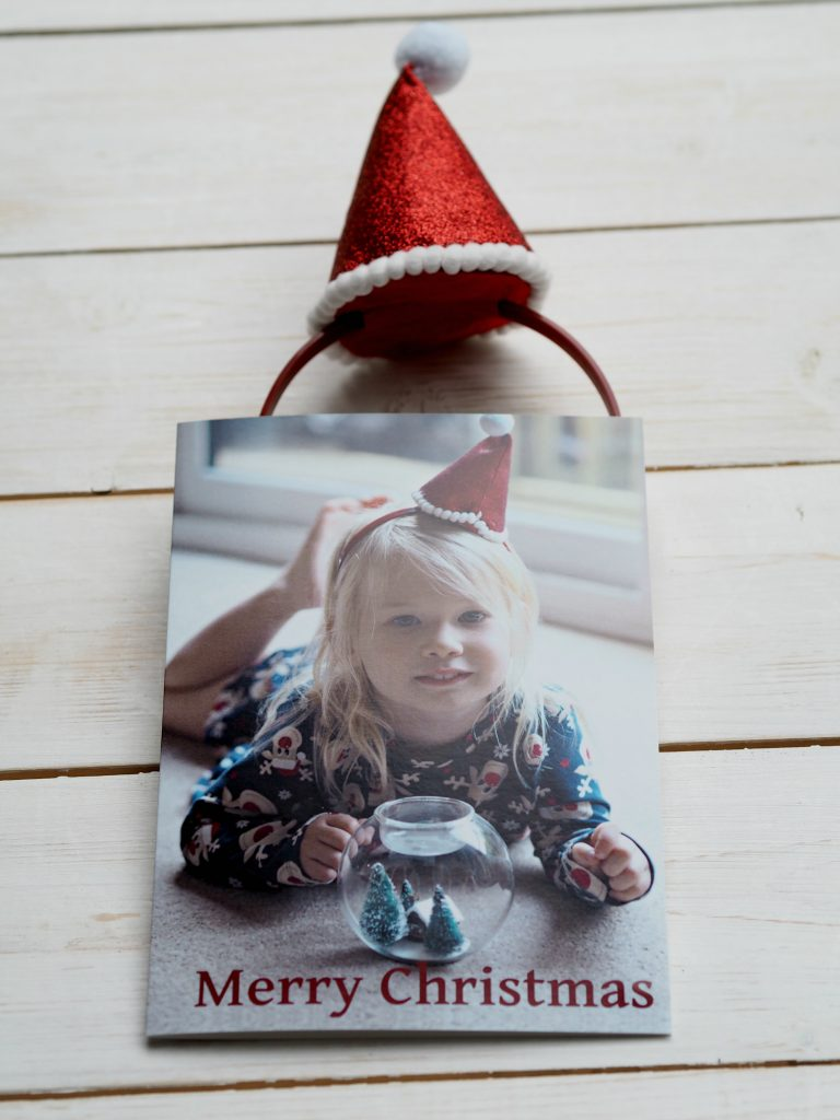Bags of Love Personalised Christmas Cards - Aria and Christmas hat