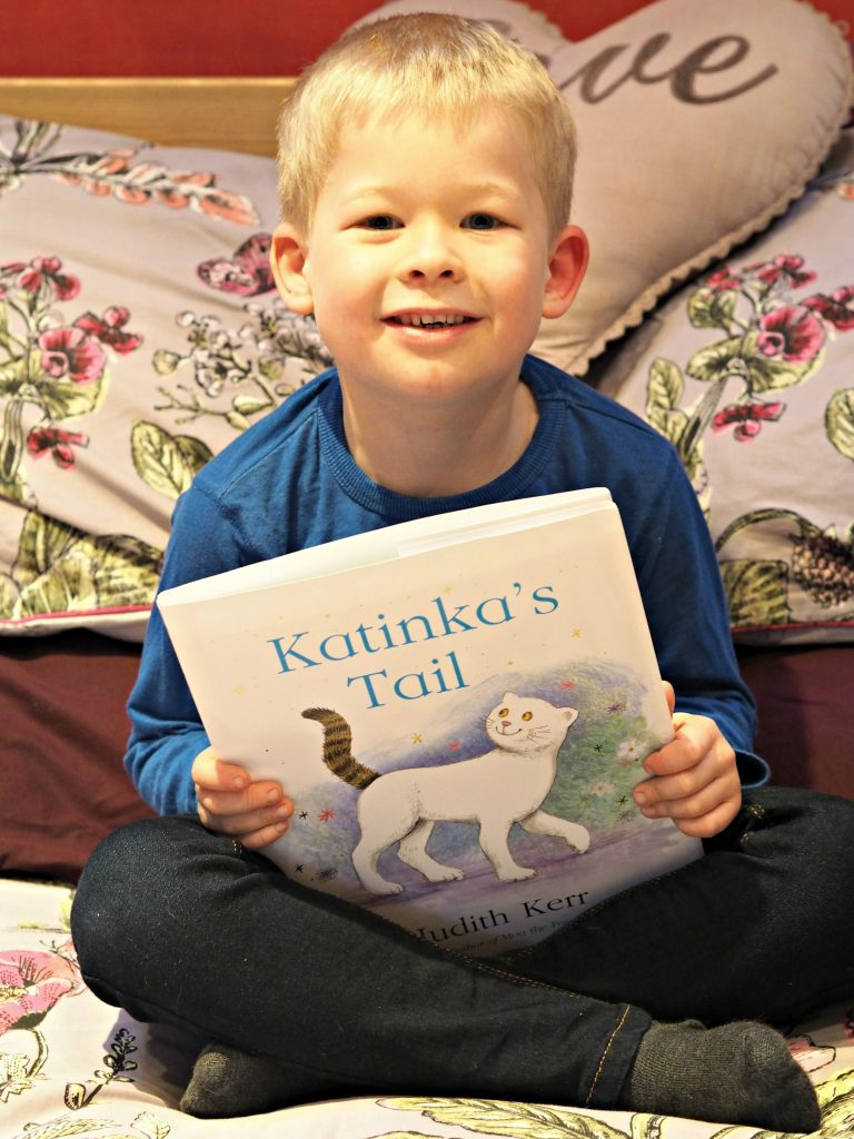 CHILDREN'S BOOK REVIEW Katinka's Tail by Judith Kerr - Logan and front cover