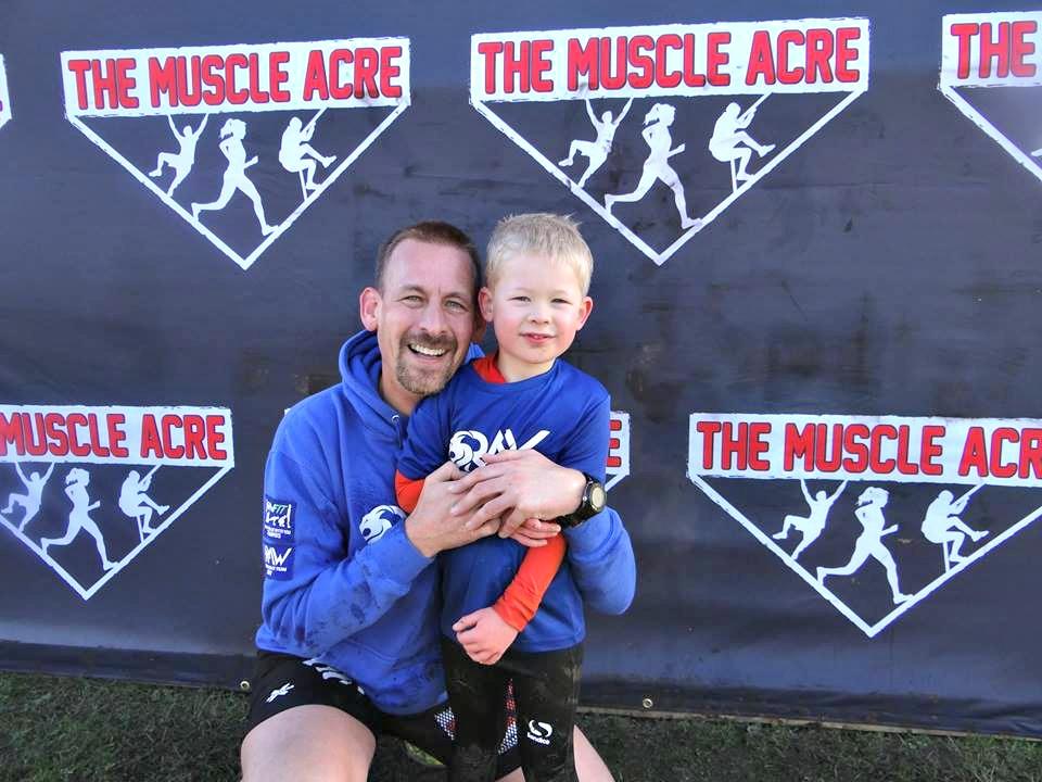 Muscle Acre Mud Slog November 2017 Review - Ben and Logan at finish