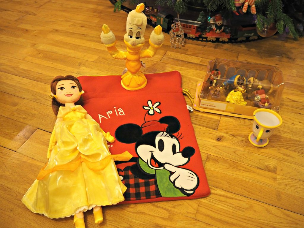 Personalised Stockings with the Disney Store - Aria with personalised stocking - Beauty and the Beast stocking fillers