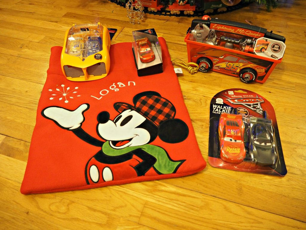 Personalised Stockings with the Disney Store - Logan with Cars stocking fillers