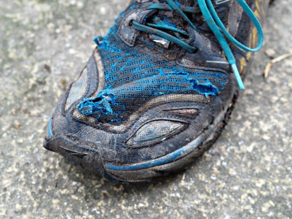 Altra Lone Peak 3 Shoes - 1000km Kit Review - toe box close up